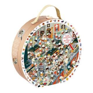 【法國Janod】找一找圓形拼圖-餐廳廚房篇208pcs