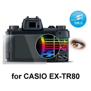 【D&A】CASIO EX-TR80日本原膜增豔螢幕貼(9H防藍光疏油疏水型)