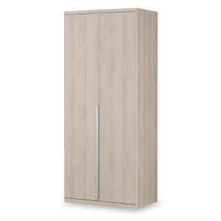 【時尚屋】愛莎2.6尺雙吊衣櫥 C7-596-3免運費(臥室 衣櫥)