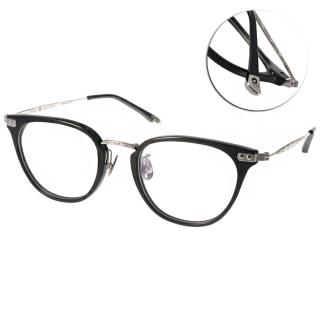 【NINE ACCORD 眼鏡】鈦金屬簡約款(黑-銀#UNION NB C05)