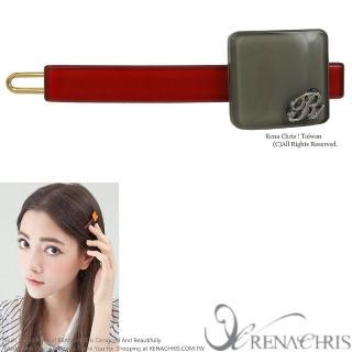 【Rena Chris】字母方塊橫桿扣夾(Red)