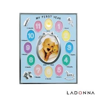 【日本LADONNA】Baby 週歲成長記錄相框 藍色(MB21-130-BL)
