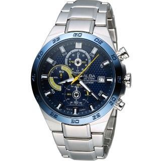 【ALBA 雅柏】活力運動型男三眼計時腕錶(VD57-X080B AM3339X1)