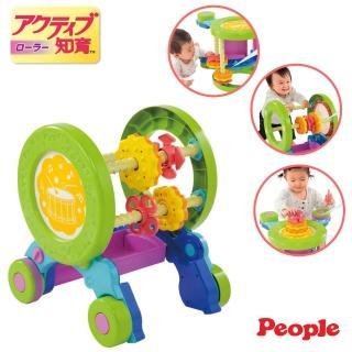 【日本People】體能運動學步車(防止翻倒設計+速度調節功)