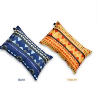 【May Shop】復古民族風戶外野營用品自動充氣枕露營便攜枕頭帳篷枕汽車休閒枕