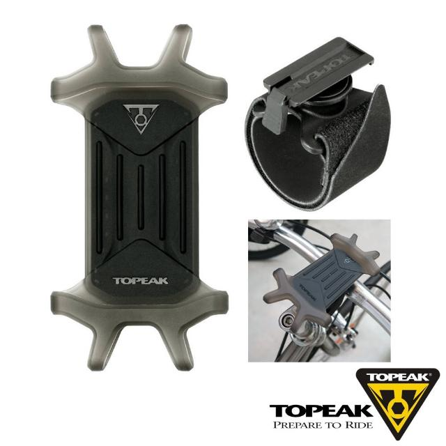 【TOPEAK】OMNI RideCase 多用途手機固定座彈性矽膠手機套-黑