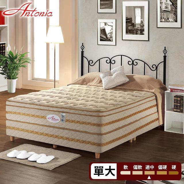 【Antonia】三線 背柔 五段式獨立筒床墊-單人3.5尺(高蓬度+天絲棉+德國乳膠)