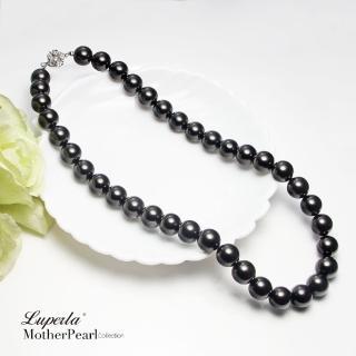 【大東山珠寶】12mm南洋貝寶珠項鍊(大溪地珍珠黑)