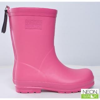【Neon Walk 尼沃】兒童純色雨靴-粉紅色(兒童雨鞋 雨鞋 雨靴 長筒雨靴 高筒靴 neonwalk)