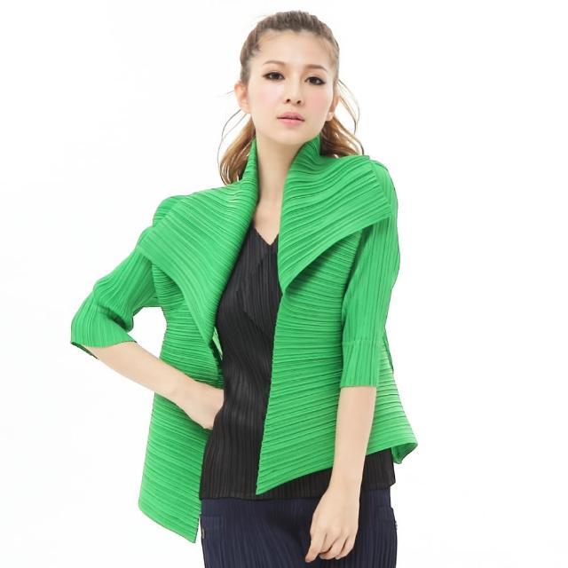 【羽生摺衣】摩登氣質-多穿法造型領外套(共六色)