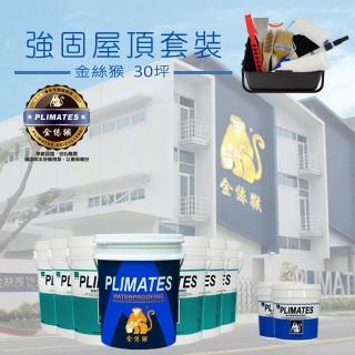 【金絲猴】《30坪屋頂防水》強固套裝