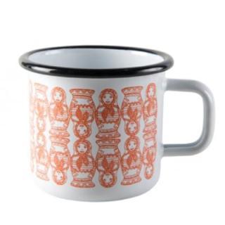 【芬蘭Muurla】俄羅斯娃娃琺瑯馬克杯370cc(咖啡杯/琺瑯杯)