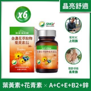 【金車補給園】金盞花萃取物葉黃素(30粒共6瓶組)