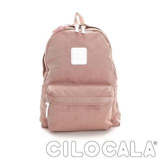 【CILOCALA】亮彩尼龍防潑水後背包-大包(粉色)