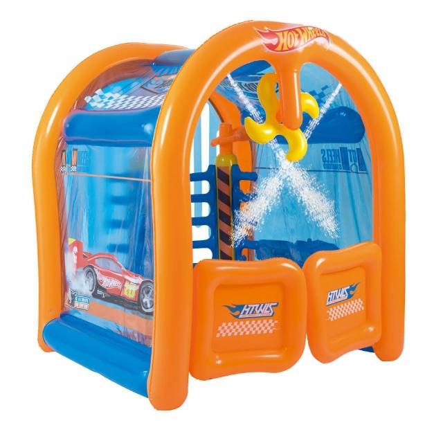 【酷博士】Hot Wheels。洗車屋造型充氣遊戲池93406