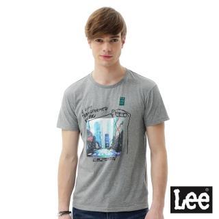 【Lee】照片印刷短袖圓領TEE/RG-灰(短袖)