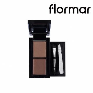 【法國 Flormar】巴黎魅力二合一雙效眉彩寶盒