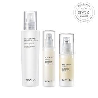 【BEVY C.】油脂平衡調理3件組(保濕噴霧調理水+控油凝乳+毛孔緊緻精華)