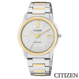 【CITIZEN星辰】摩登魅力暖調金銀雙色光動能女仕手錶(FE6014-59A)