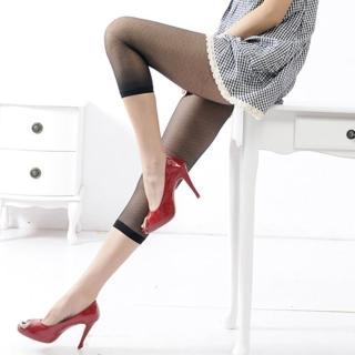【Lady c.c.】自然春意輕鬆輕盈七分褲襪(黑)