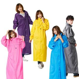 【雙龍牌】台灣素材_超輕量日系極簡前開式雨衣(透氣內網超防水連身雨衣EU4074)