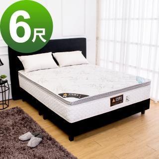 【BODEN】頂級天絲環保綠能乳膠獨立筒床墊-適中偏硬(6尺加大雙人)