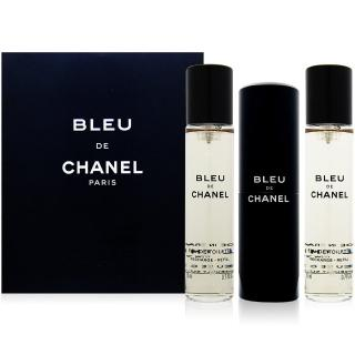 【CHANEL香奈兒】藍色男性隨身淡香水 20mlx3入(熱銷明星品)