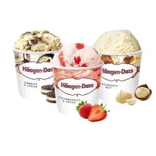 【Haagen-Dazs 哈根達斯】超人氣口味品脫4入組(草莓/夏威夷果仁/淇淋巧酥任選;473ml/入)
