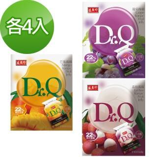 【盛香珍】Dr. Q 蒟蒻綜合12件組(芒果+葡萄+荔枝共168入)