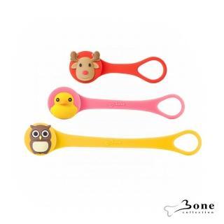 【Bone】逗扣Q束繩 - 麋鹿 / 鴨子 / 貓頭鷹(收線器 可愛造型 無毒認證矽膠)
