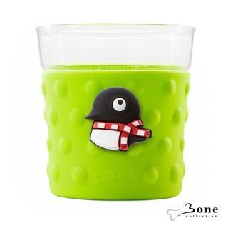 【Bone】企鵝Maru泡泡玻璃杯(造型玻璃杯 無毒認證矽膠)