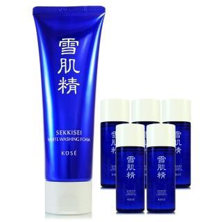 【KOSE高絲】雪肌精淨透洗顏霜130g - 贈雪肌精化妝水33ml(正統公司貨)