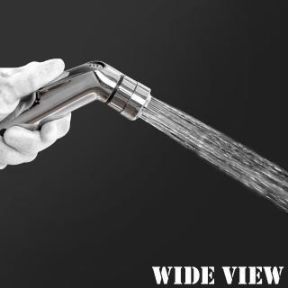 【WIDE VIEW】3M雙水花免治水療噴槍(含軟管、噴槍、三通分水器、支座US-SH04-30)