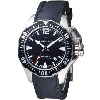 【Hamilton 漢米爾頓】卡其海軍系列蛙人腕錶(H77605335)