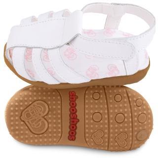 【shooshoos】安全無毒真皮健康手工涼鞋/童鞋_羅馬天使白_SS103092(公司貨)