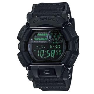 【CASIO】G-SHOCK 人氣霧面跳色街頭造型錶-黑X綠(GD-400MB-1)