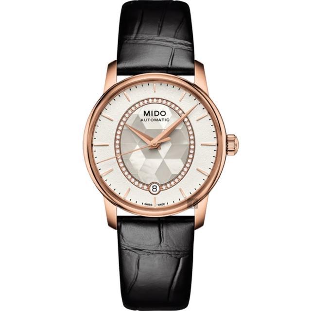 【MIDO】美度 Baroncelli 永恆系列晶燦鑲鑽女仕腕錶-34mm(M0072073611600)
