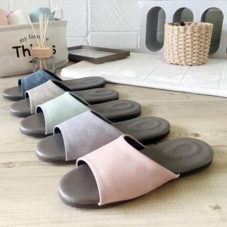 【iSlippers】風格系列-渲色皮質室內拖鞋(5雙組)