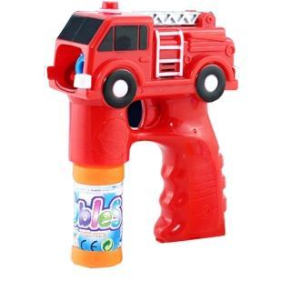 【17mall】兒童玩具電動聲光音樂消防車泡泡槍(附贈泡泡水)