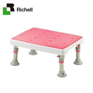 【日本Richell利其爾】可收摺不銹鋼浴室椅凳-軟墊型