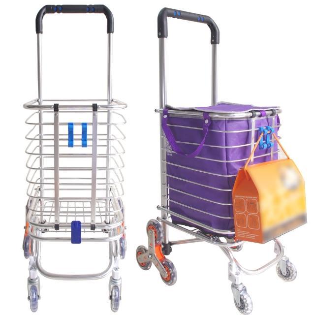 兩用八輪可爬梯購物車/推車(贈牛津袋、掛勾、彈力繩)
