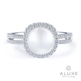 【A-LUXE 亞立詩】寵愛系列 18K金鑽石AKOYA珍珠戒指