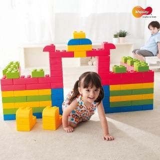 【贈黃金盾抗菌噴劑  Weplay】巧巧大積木-64件(STEAM玩具)
