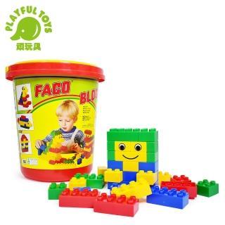 【Playful Toys 頑玩具】圓桶時鐘大積木(台灣製造MIT/知名品牌積木相容)