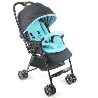 【Babybabe】加寬超輕量雙向秒收車(湖水藍)