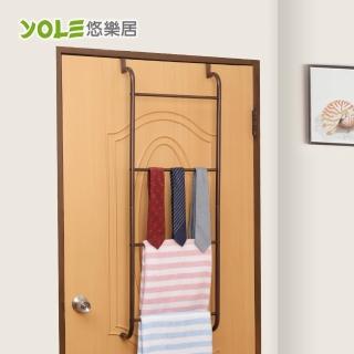 【YOLE悠樂居】四層梯形加粗毛巾衣物門後掛架#1326017