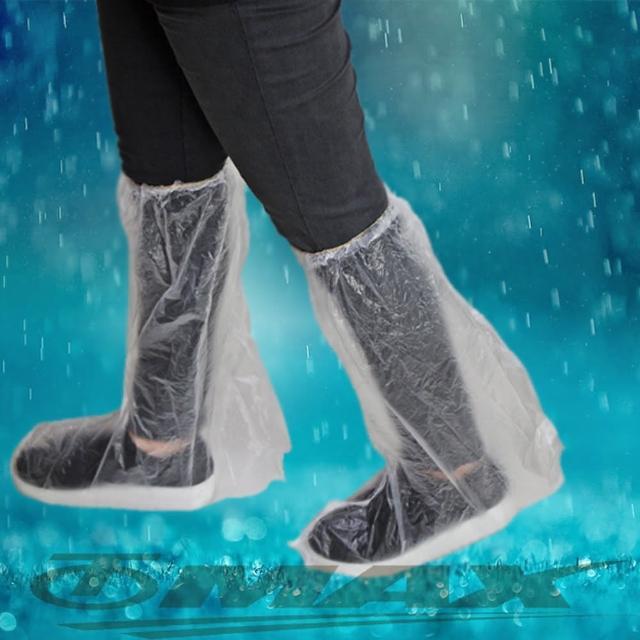 【omax】透明通用型雨鞋套-12雙(6包-12H)