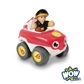 【英國驚奇玩具 WOW Toys】隨身迷你車 消防車火焰