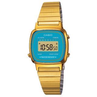【CASIO】金色復古時尚錶(LA-670WGA-2)