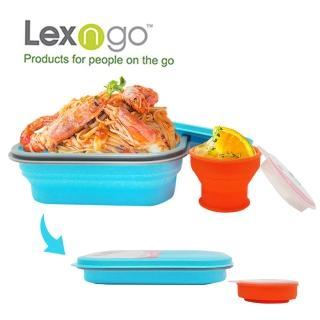 【Lexngo】可折疊午餐組-大-850ml(餐盒 碗盤 廚具 便當)